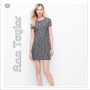 Ann Taylor Black & White Boucle Dress